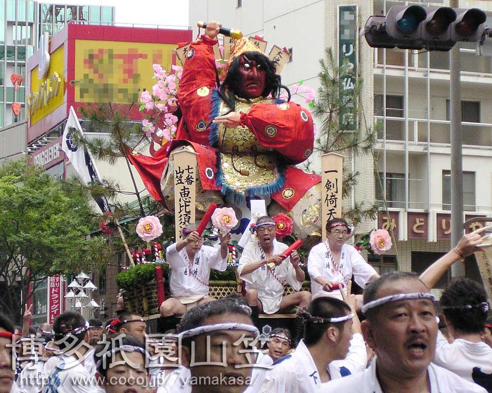 恵比須流・博多祇園山笠平成19年度(舁き山): http://www.cocoj.jp/~yamakasa/kazariyama/yama_07/yama07_k.html